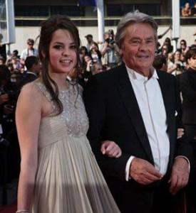 Ален Делон с дочерью Аннушкой