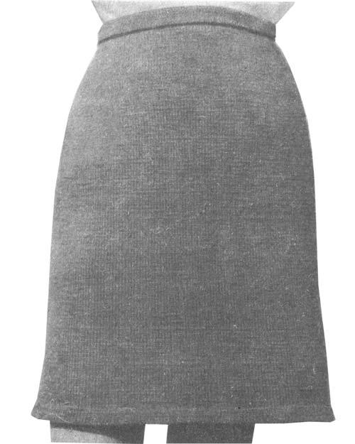 Рис. 1 Двухшовная прямая юбка