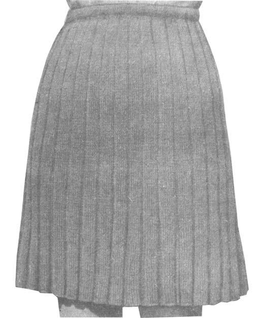 Рис. 3 Двухшовная расклешенная юбка