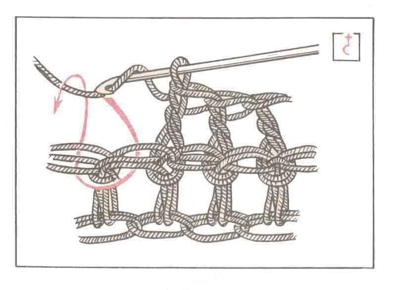 Рис. 7 Утопающий столбик с накидом