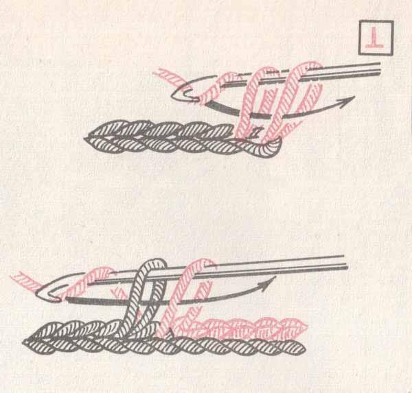 Рис.4 Основы вязания крючком для начинающих. Полустолбик