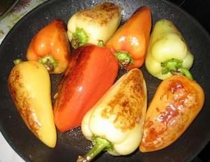 Жареный перец с чесноком на зиму